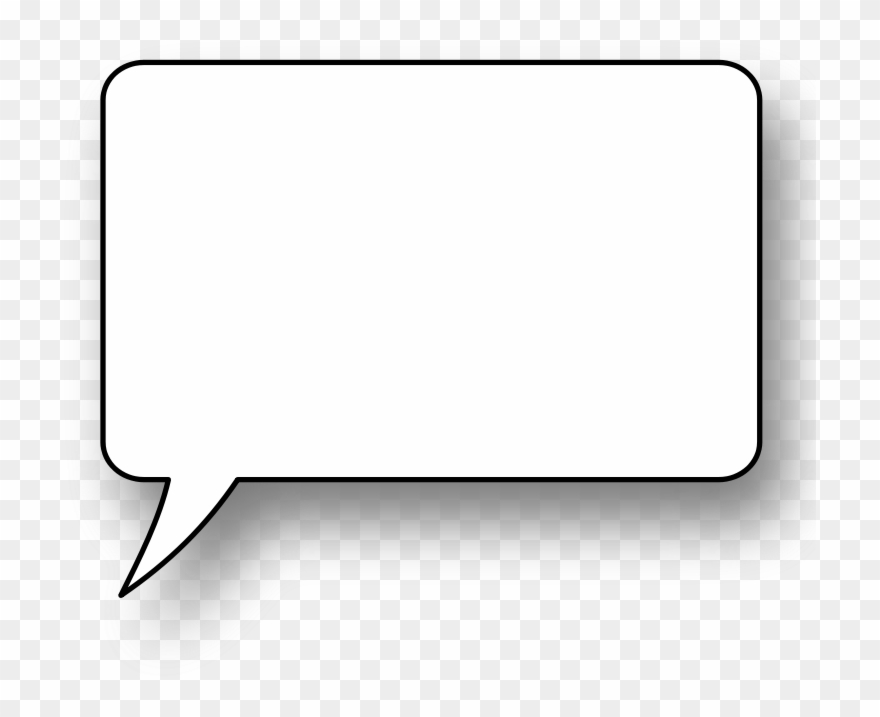 Thought bubble vector. Free speech large transparent