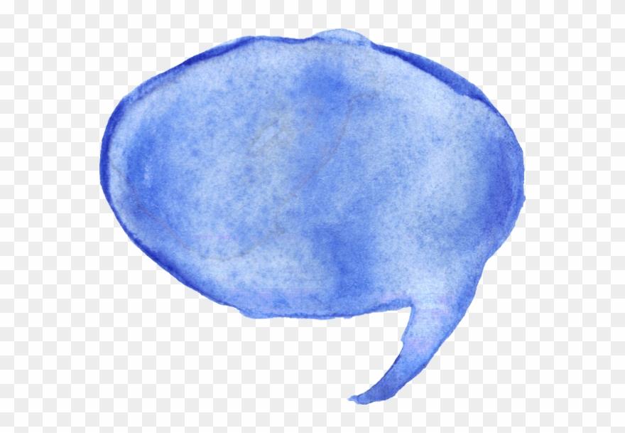8 Watercolor Speech Bubbles Png Transparent Onlygfx - Blue Watercolor Speech Bubble Clipart