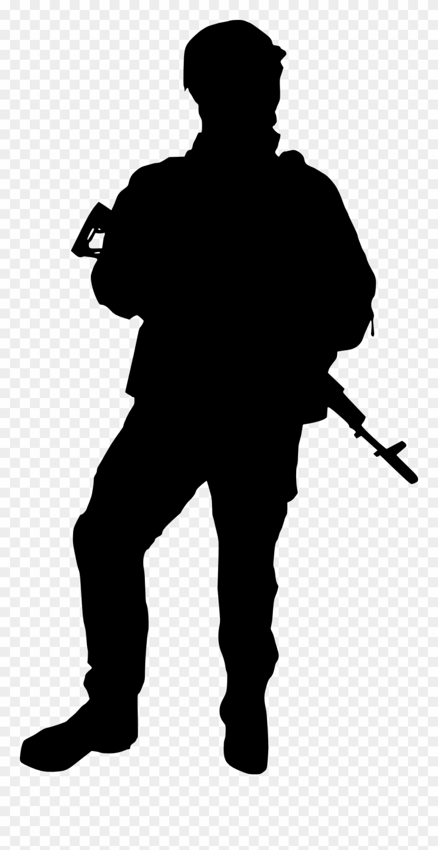 Soldiers Clip Art At Getdrawings Com Free - Soldier Silhouette No