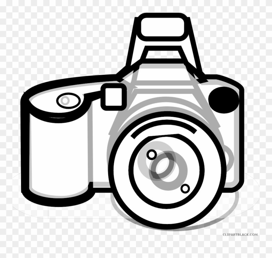 Clip Art Freeuse Stock Camera Black And White Clipart