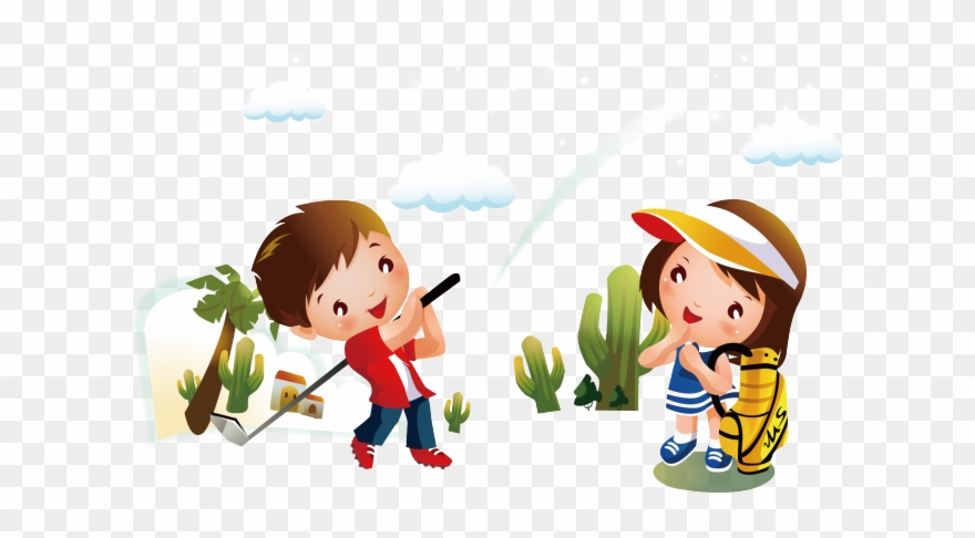 Golf Course Clipart Kid Golf Happy Children Day Gif Png Download Full Size Clipart 4000339 Pinclipart