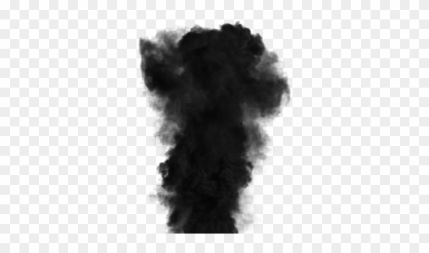 Download Free Png Black Transparent Background - Black Smoke Cloud