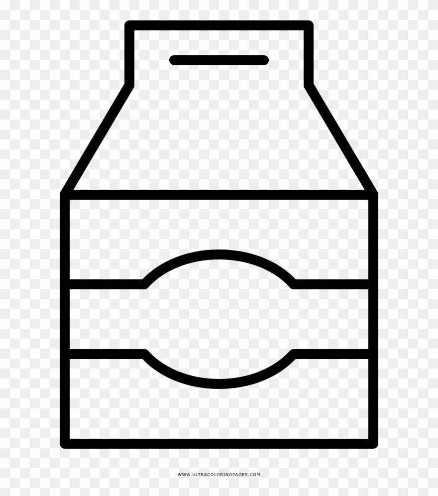 Milk Carton Coloring Page Png Caixa De Desenho De Leite Clipart