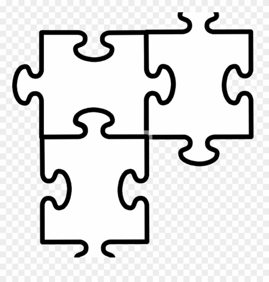 Free Puzzle Pieces Template Download Free Clip Art Two Jigsaw Piece Template Png Download 4010473 Pinclipart
