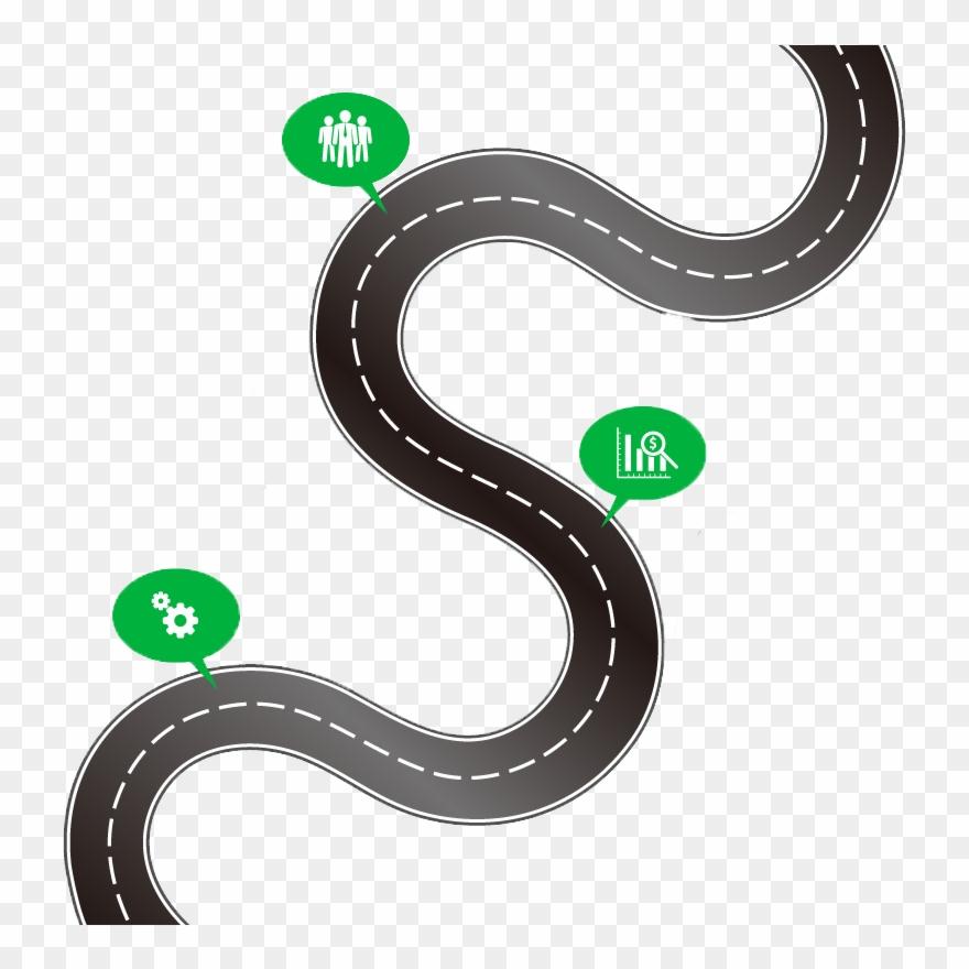 Road Curve Clipart - Lizenzfrei - GoGraph