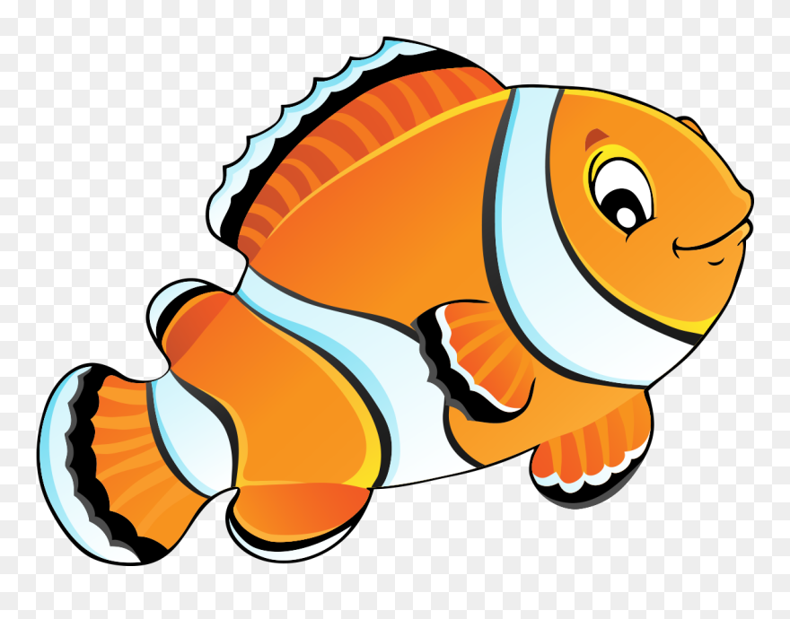 Carassius Auratus Painting Drawing Cute Painted Orange - Painting Of Fish Cartoon Clipart