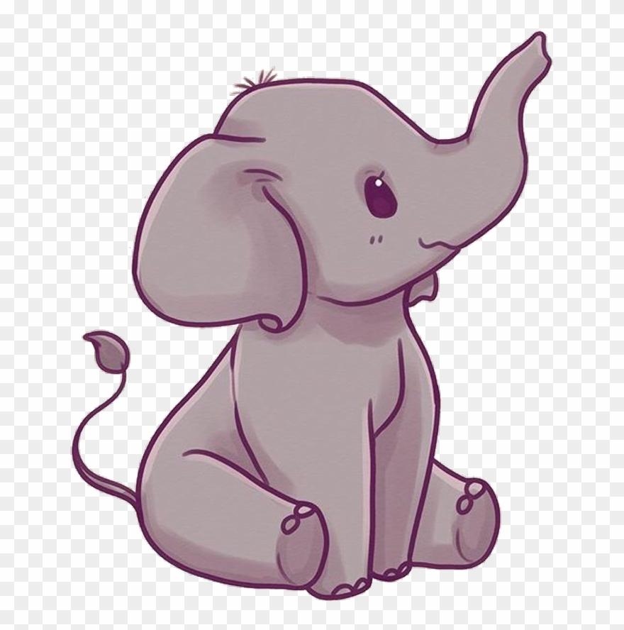 Elephant Sticker Cute Kawaii Elephant Clipart 4024609
