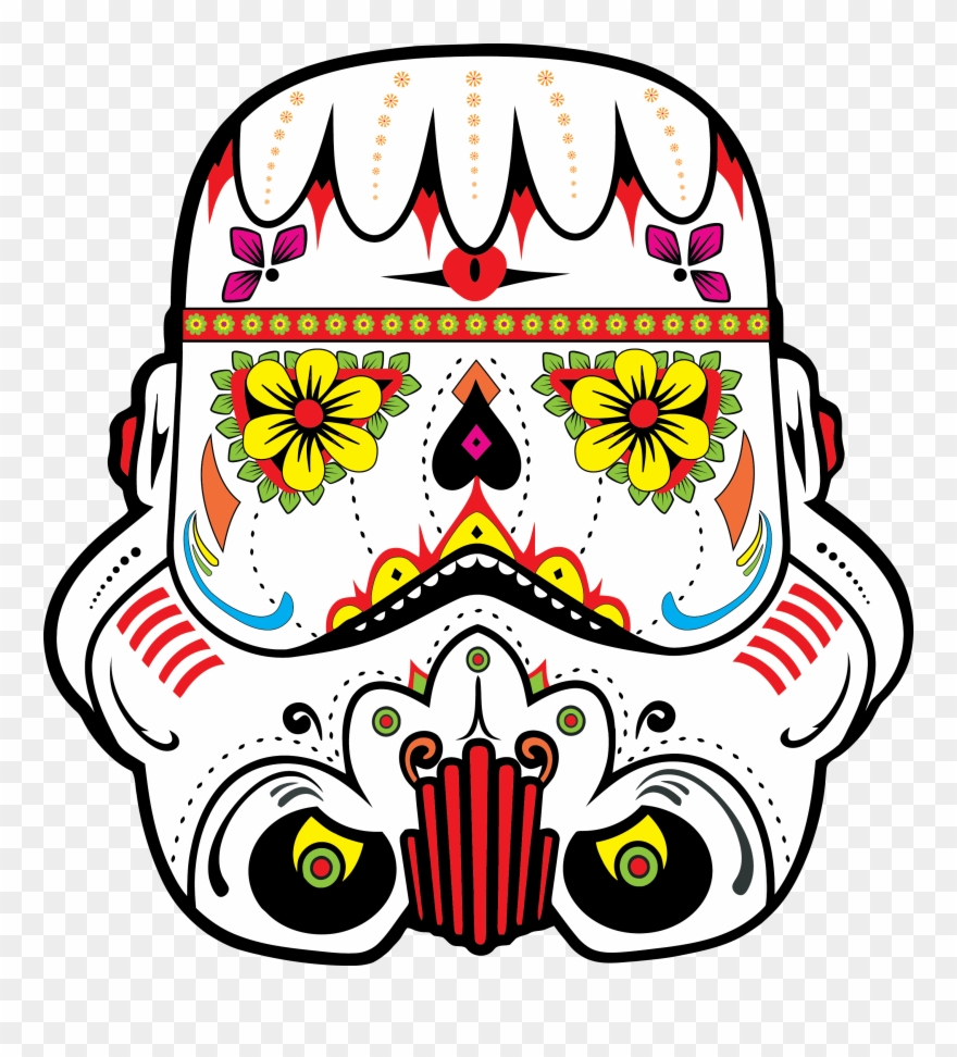 Star Wars Sugar Skull Dia De Muertos Star Wars Clipart