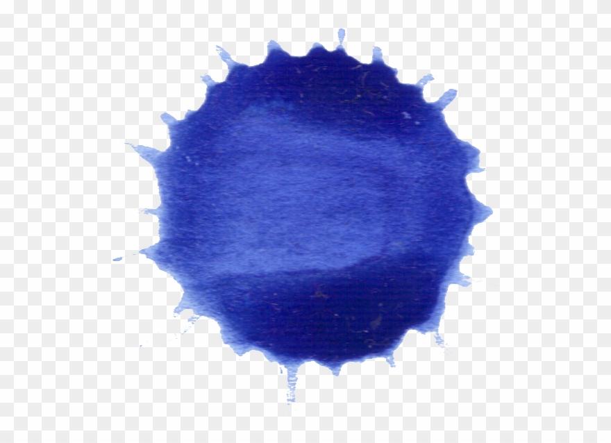 Watercolor Transparent Dark Blue - Watercolor Paint Clipart