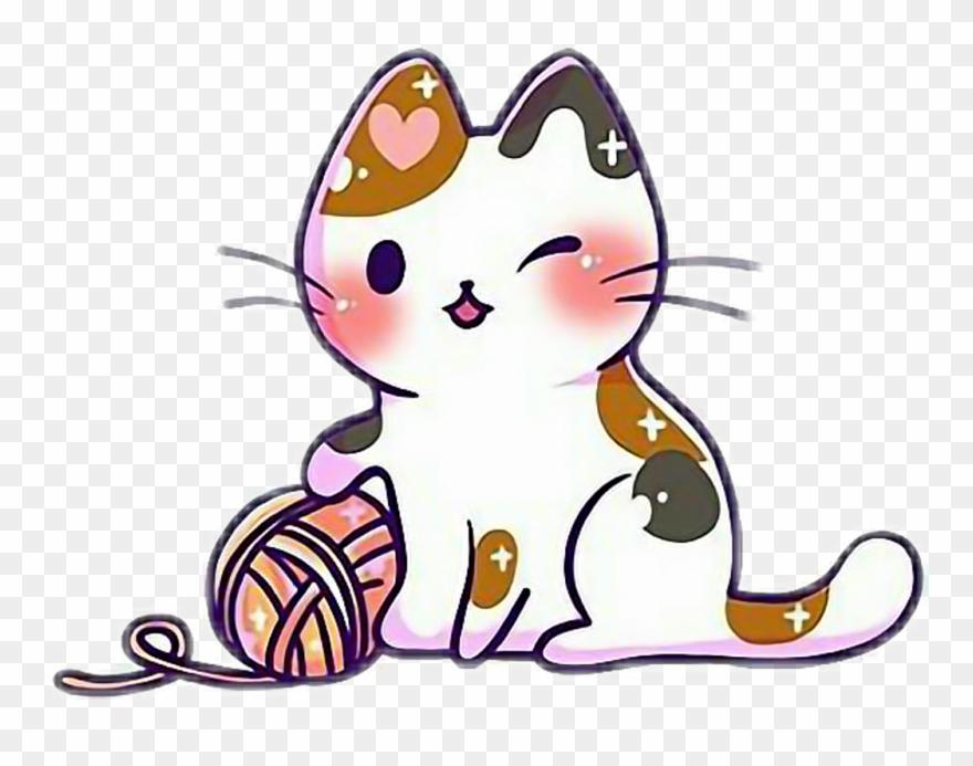 Cat kawaii. Cute kitten kittens cats
