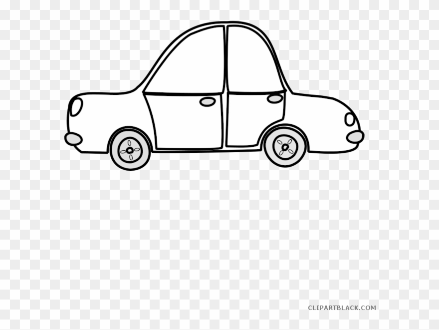 Car Outline Transportation Free Black White Clipart Clipart Transparent Cartoon Car Png Download 4058318 Pinclipart