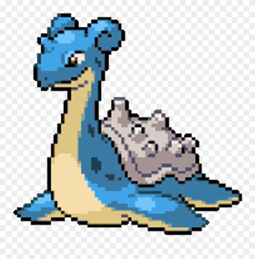 Pokemon Lapras Blue Dragon Cute Sprite Pixel Pokemon