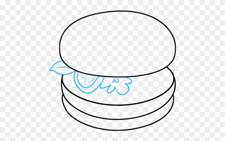 How To Draw Burger - Draw A Burger Step By Step Clipart