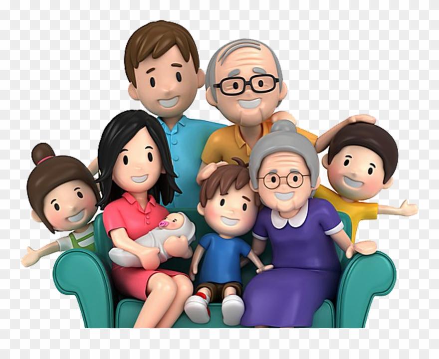 Cartoon Family Pic Cartoon Family Group Happy Family Clipart 4074257 Pinclipart