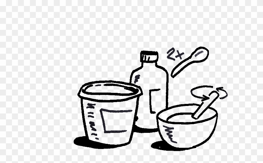Tools You Need For Bleach Bath For Hair - Sketch Clipart