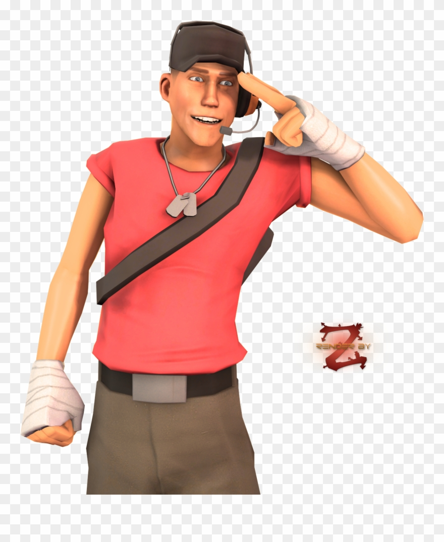 Tf2 Scout Transparent Team Fortress 2 Clipart 4079792 Pinclipart