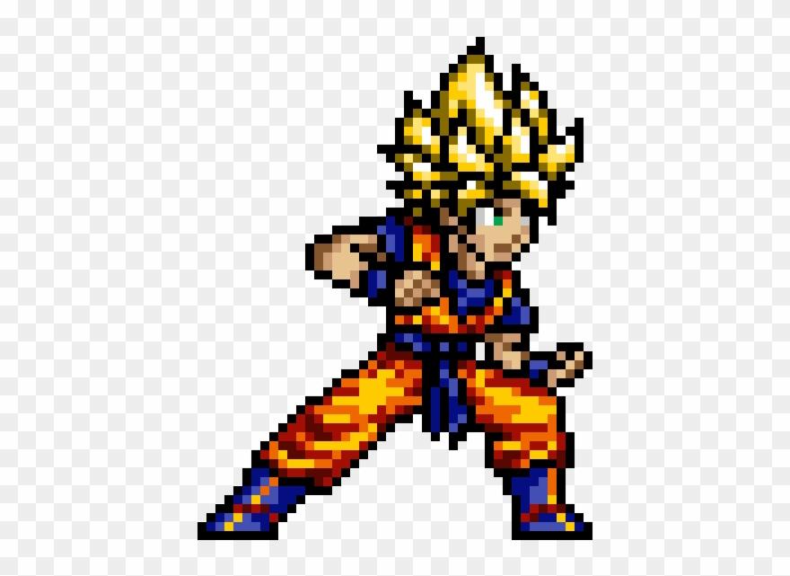 Goku Cameja Pixel Art Dragon Ball Clipart 4092258