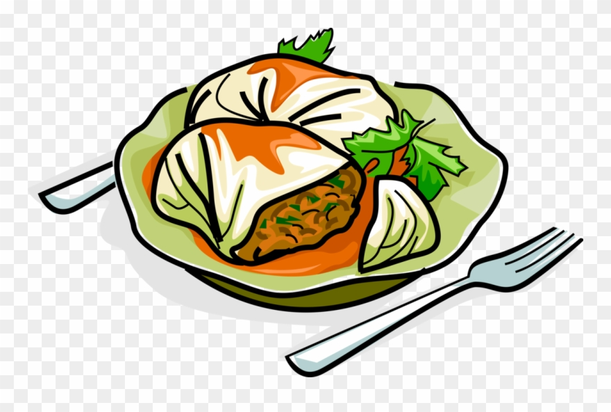 Meat Clipart Non Veg Food Cartoon Cabbage Roll Png Download 411023 Pinclipart