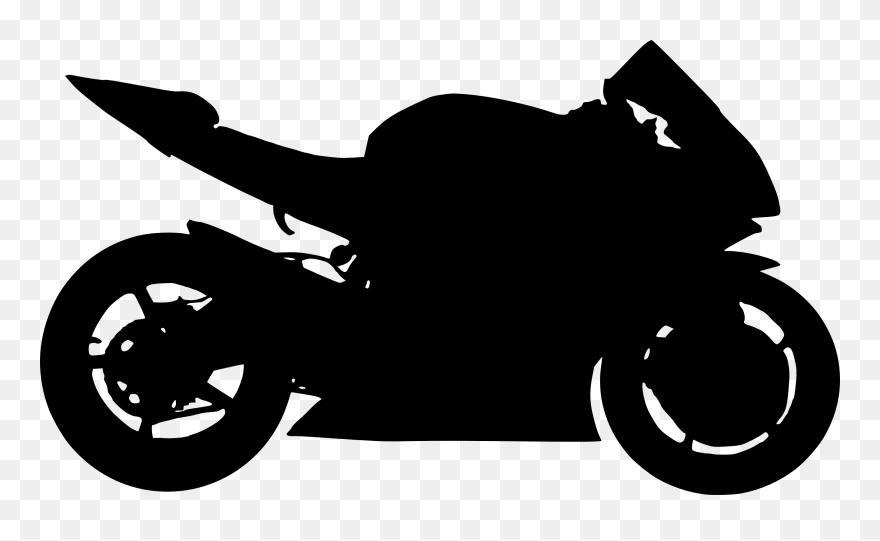 6 Motorcycle Silhouettes Motorcycle Silhouette Png Clipart