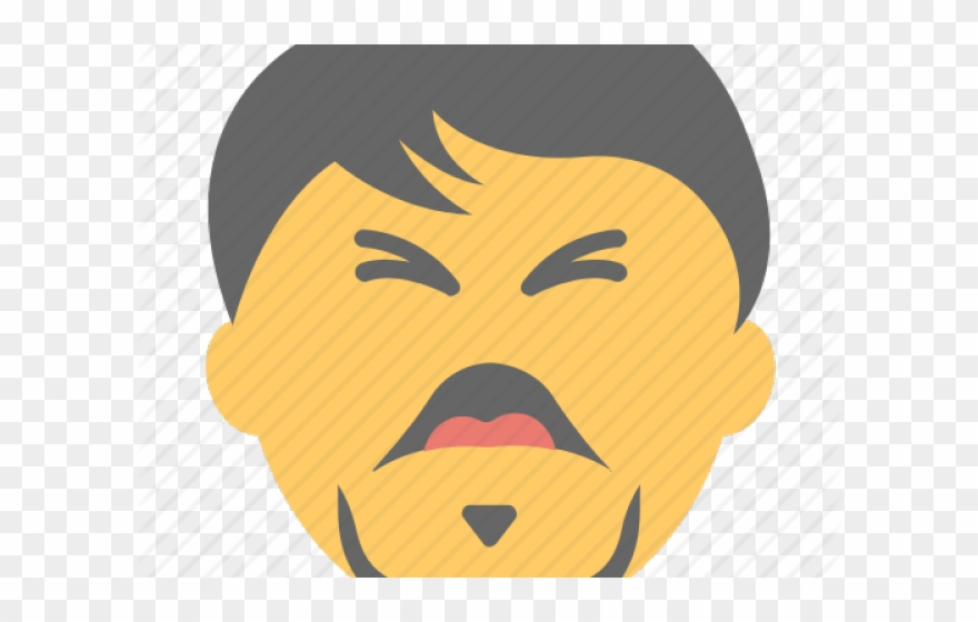 Angry Emoji Clipart Angry Man - Png Laughing Man Icon