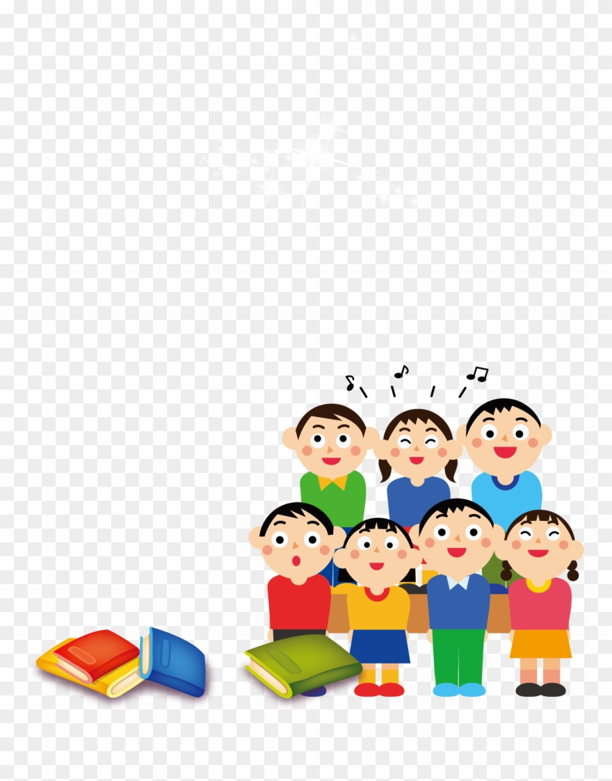 Kids Choir Illustration Vector - Download Free Vectors, Clipart Graphics &  Vector Art