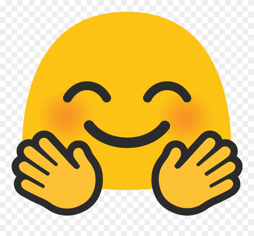 Android Hugging Emoji Face - Android Hug Emoji Clipart