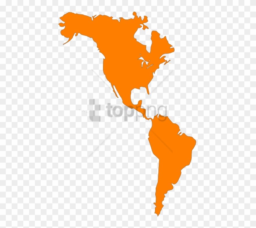 Free Png North And South America Map Png Image With - North America ...