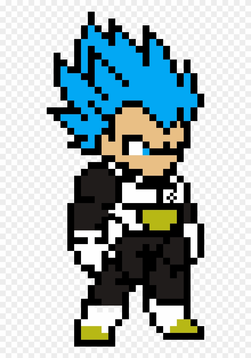 Super Saiyan Blue Vegeta Pixel Art Dragon Ball Clipart
