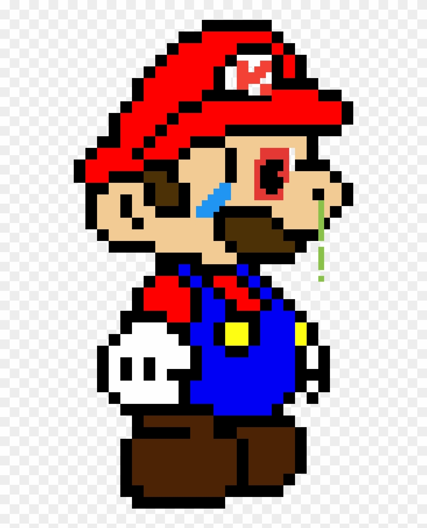 Sick Mario Paper Mario Pixel Art Clipart 4126693
