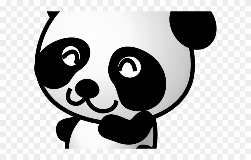 Giant Clipart Panda Bear Panda Mignon Dessin Noir Et Blanc