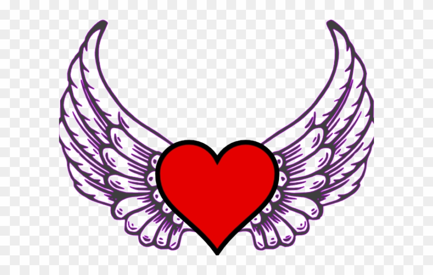 Hearts With Wings Pictures Love Heart With Wings Clipart 4131955 Pinclipart