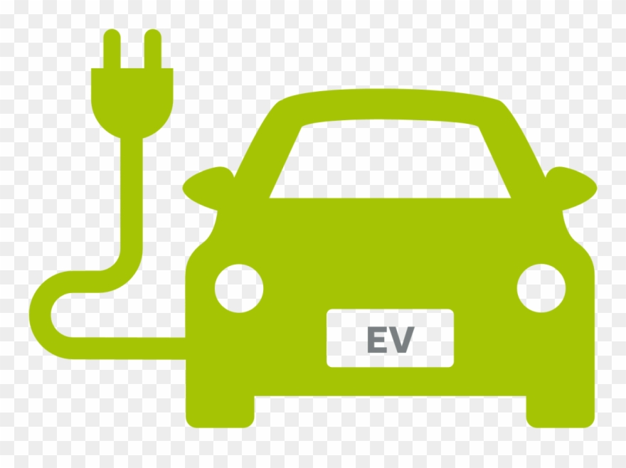 Electric Vehicle Car Charging Station Green Yellow Electric