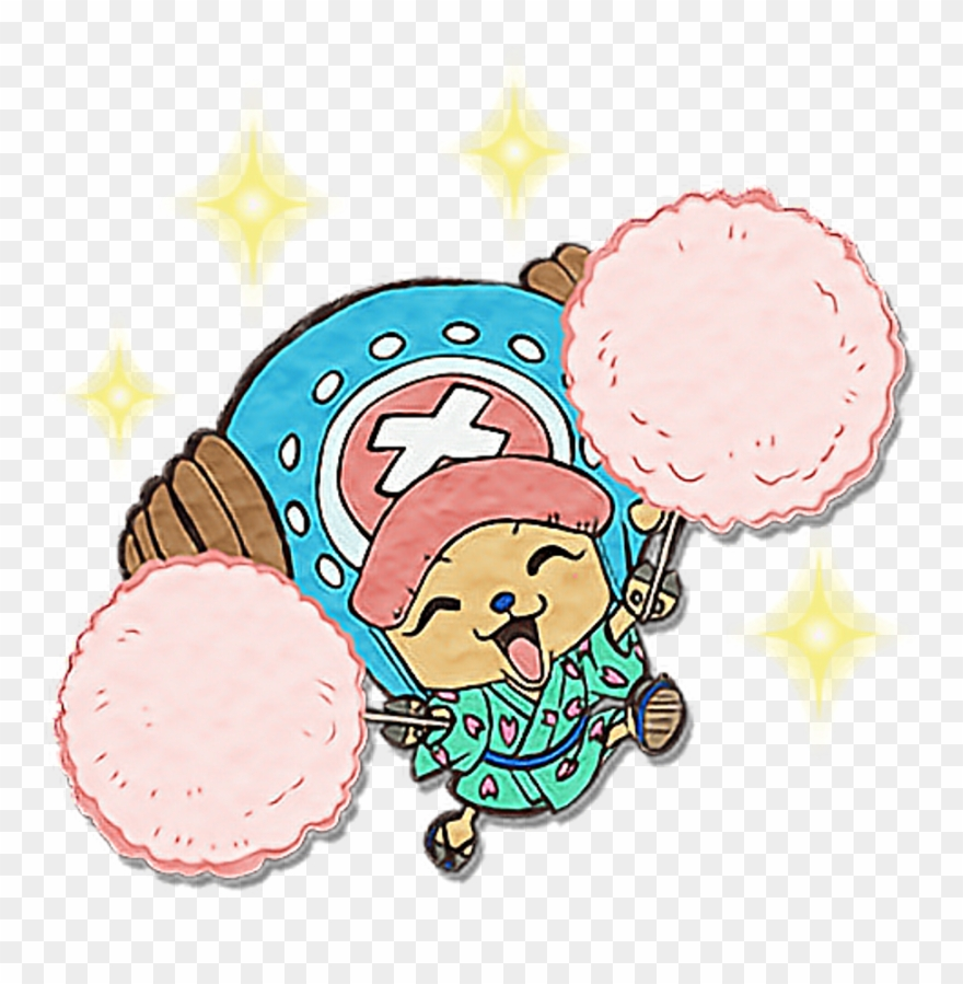 Onepiece Chopper Cute Summer Happy Colorful One Piece Sticker Png Clipart 4137267 Pinclipart