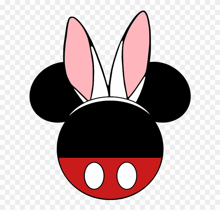 Mickey And Minnie Mouse Easter Bunny Ears Icons - Comic ...
