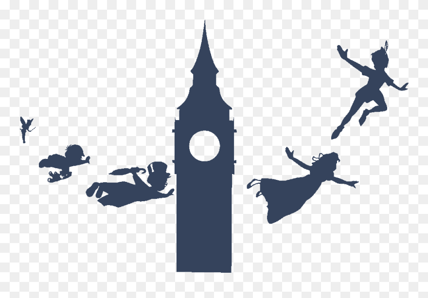 Peter Pan Silhouette Png - Peter Pan Flying Silhouette Clipart