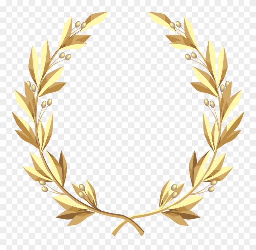 Laurel Wreath Gold Clip Art - Gold Floral Wreath Png Transparent Png
