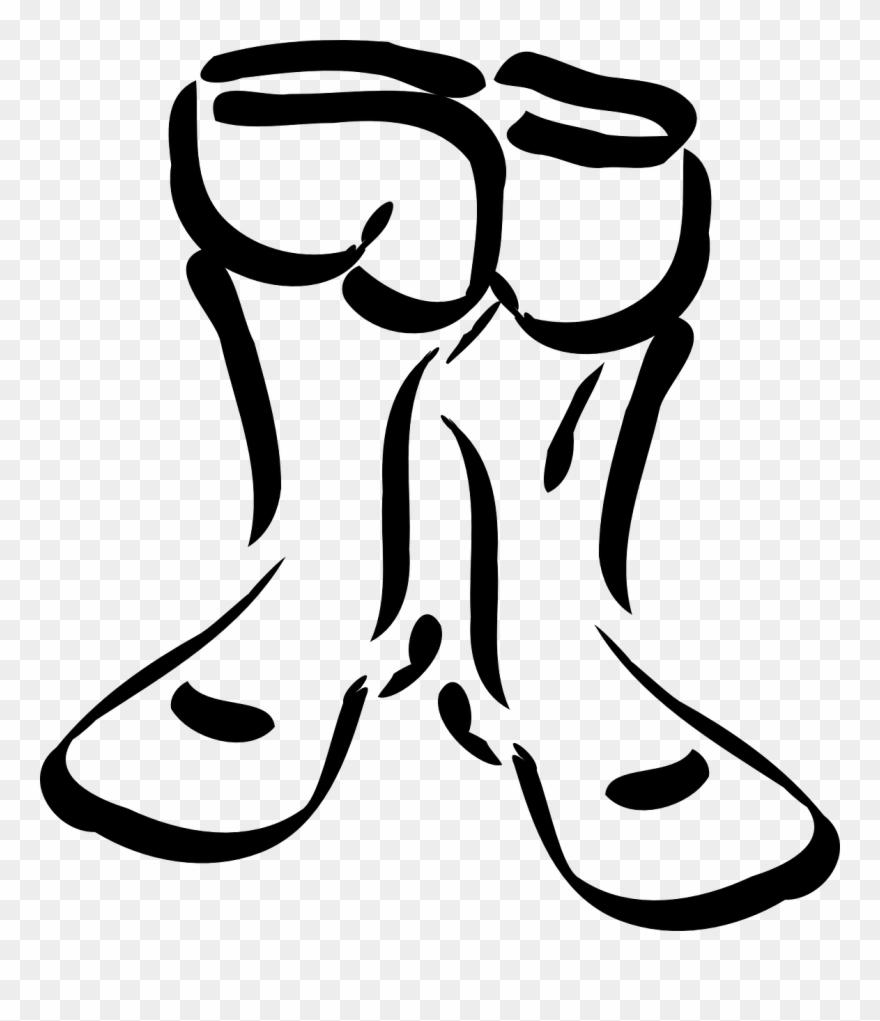 Boots Clipart Winter Shoe Sketsa Sepatu Boot
