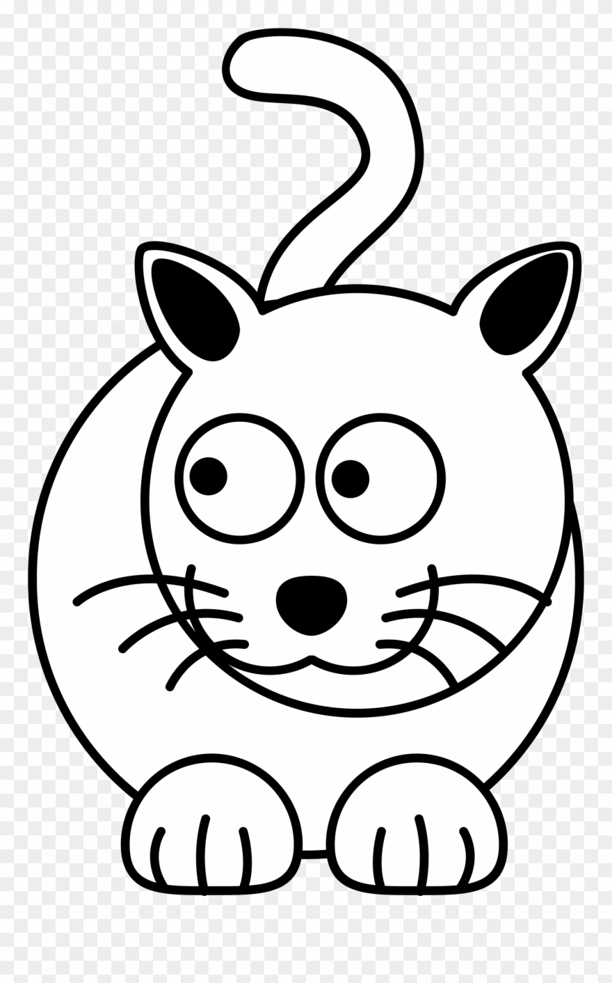 Thinking Cat Clipart Png - Quick Easy Cat Drawing , Free Transparent Clipart  - ClipartKey