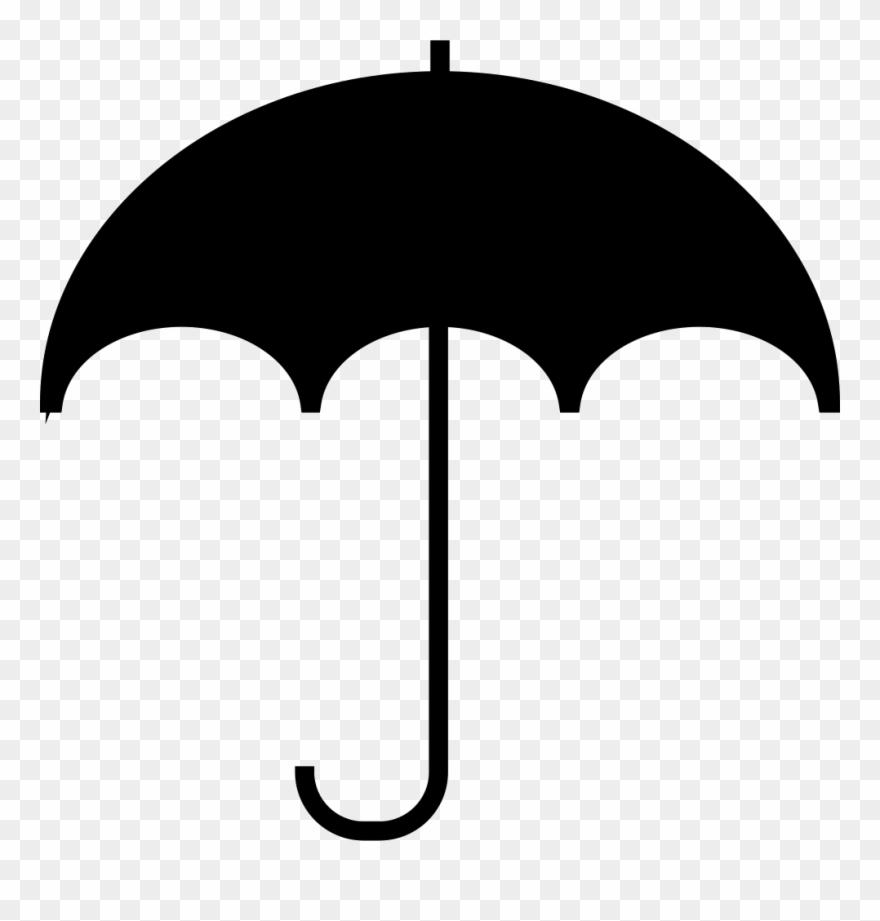 Clip umbrellas multi purpose clip art black and white umbrella icons png download