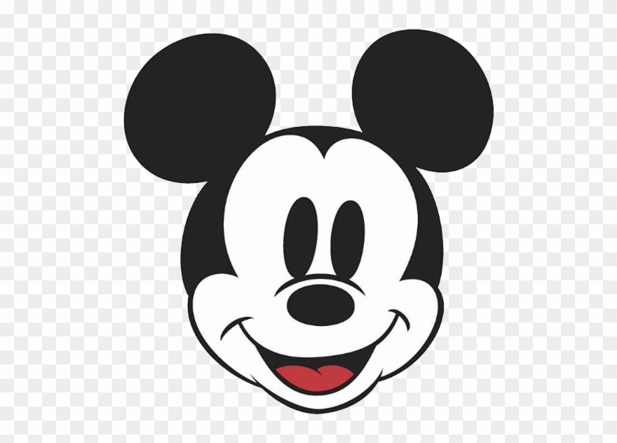 Mickey mouse face. Faces clipart classic coloring