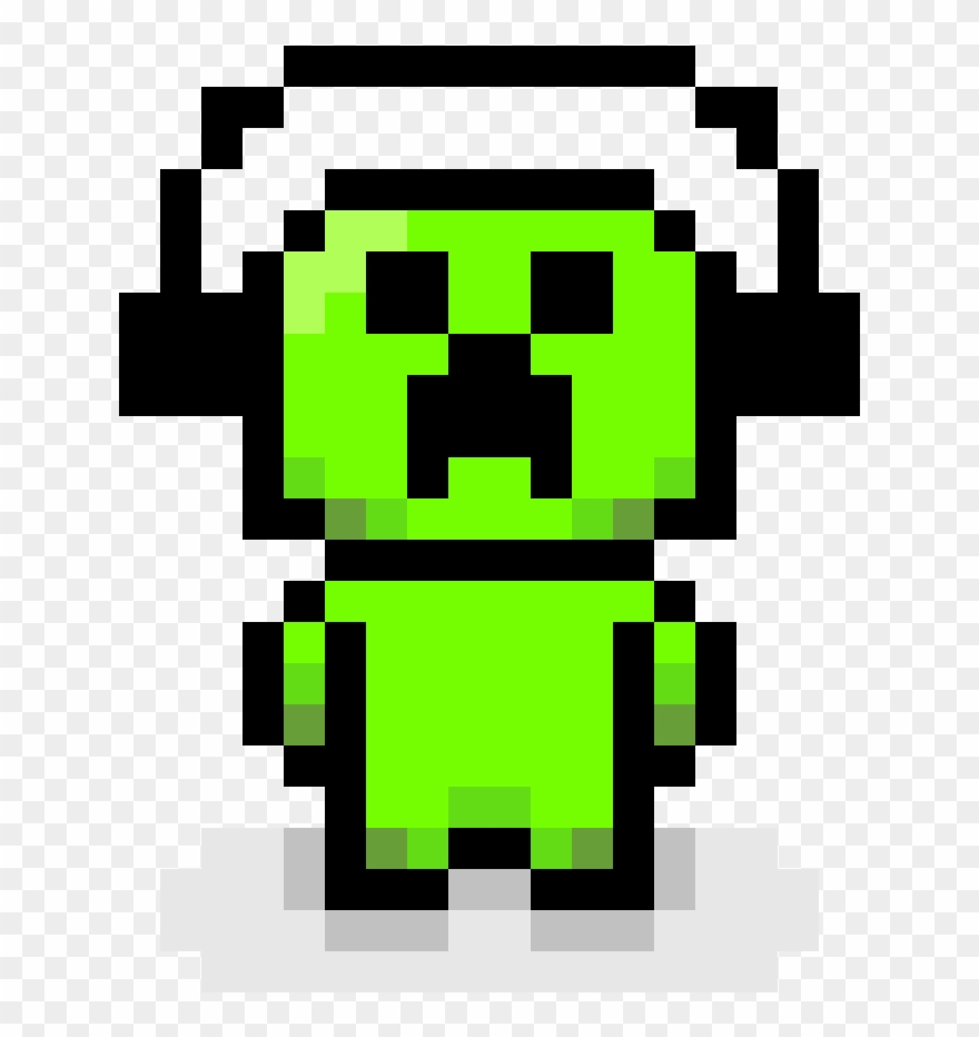 Pixel Art Creeper Minecraft Danganronpa 8 Bit Sprite