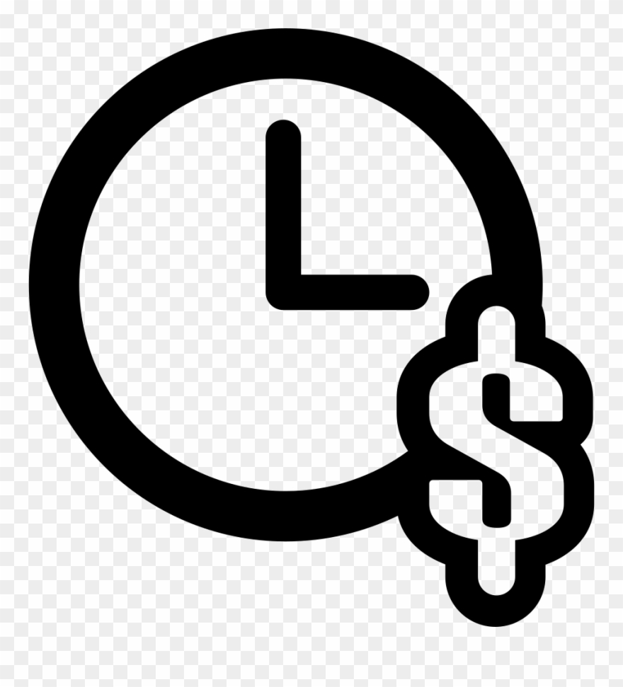 Clock With Dollar Symbol Svg Png Icon Free Download Clipart