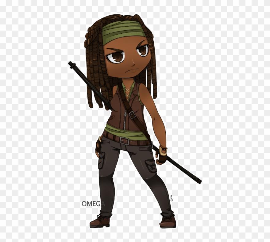 Fan Art Inspired By The Walking Dead Daryl Walking Walking Dead Michonne Cartoon Clipart 4218310 Pinclipart