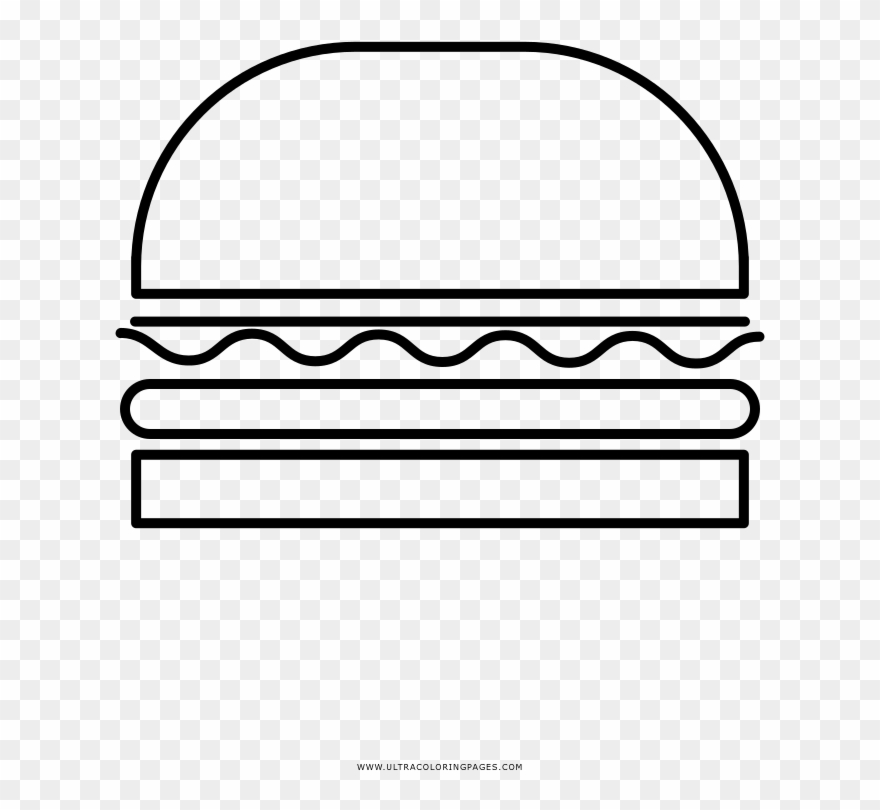 Hamburger Coloring Page Line Art Clipart 4218773