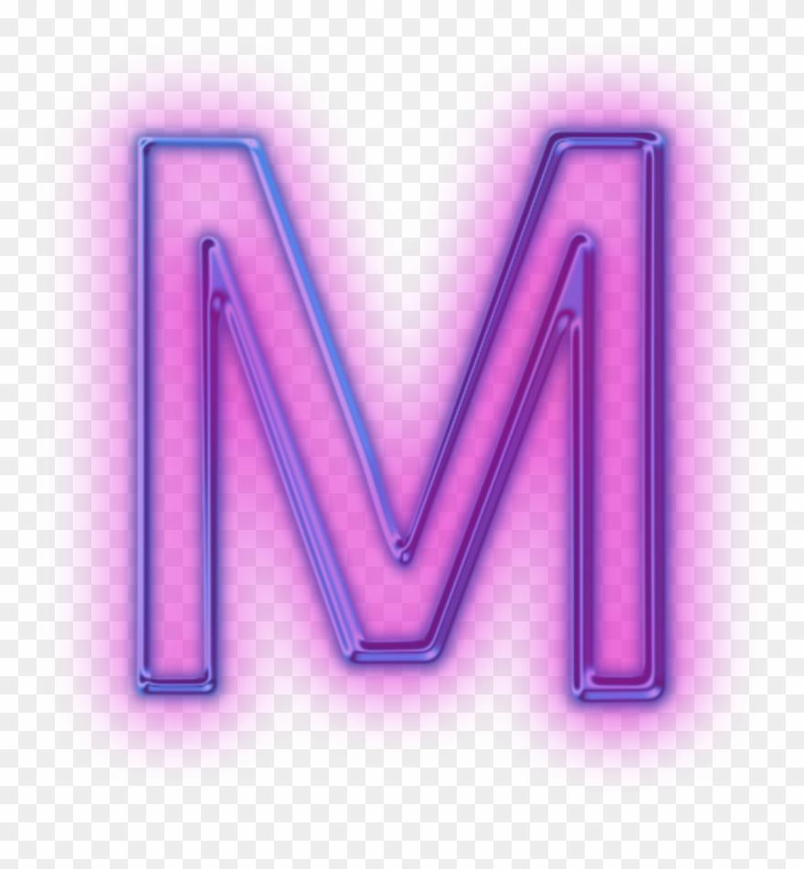tumblr purple mor m neon hologram   Neon Letter M Png Clipart ...