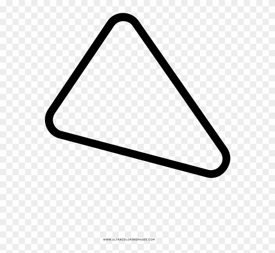 Triangle Coloring Page - Triangle Clipart (#4231736) - PinClipart