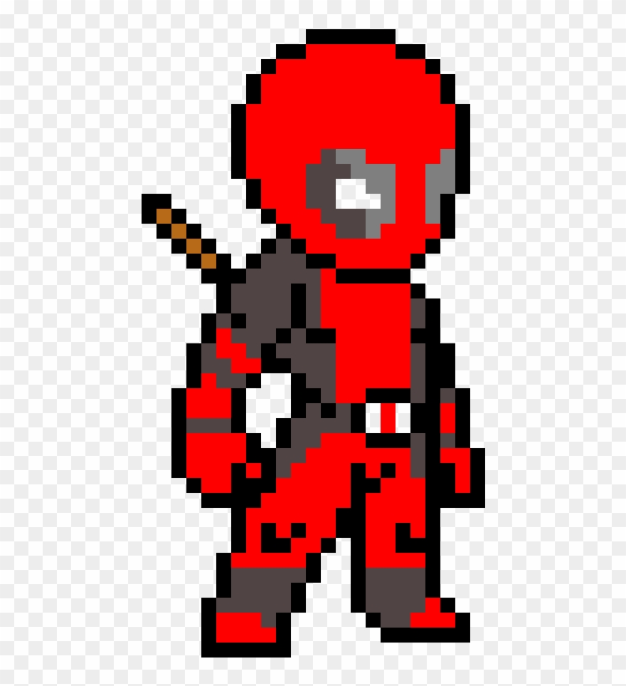 Drawing Pixel Deadpool Pixel Art Minecraft Deadpool