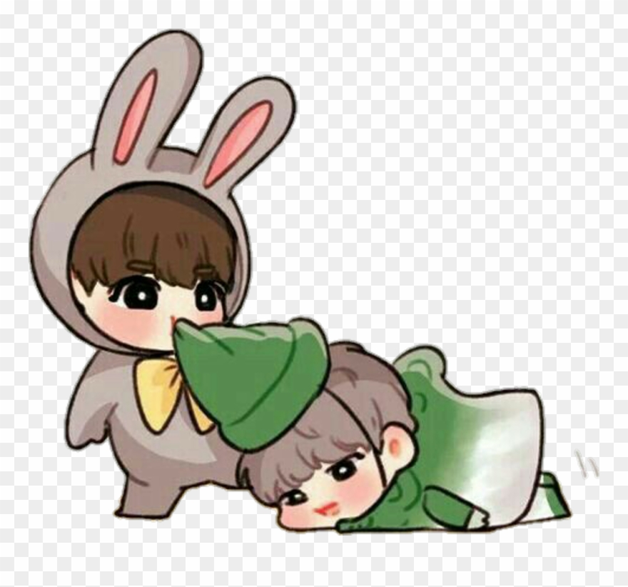 424 4241160 jikook bts fanart jimin jungkook cute kawaii clipart