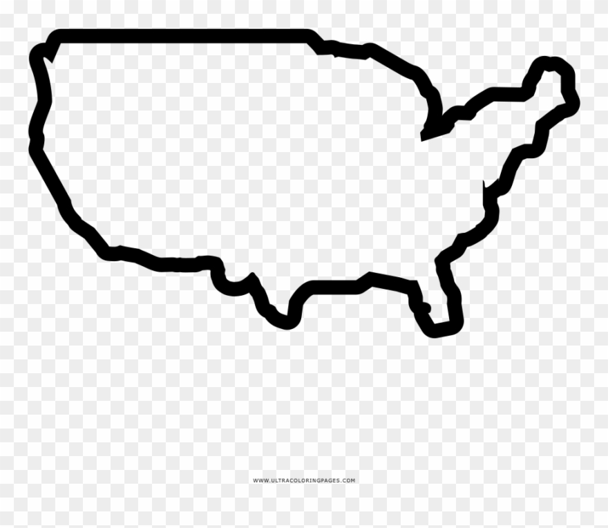 United States Map Coloring Page - America Country Outline Clipart ...