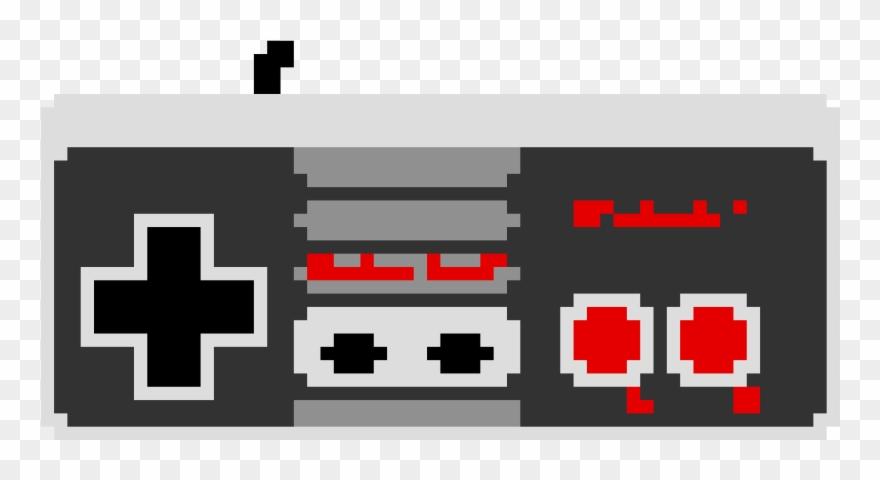 Nes Controller Pixel Art Nes Pixel Art Png Clipart